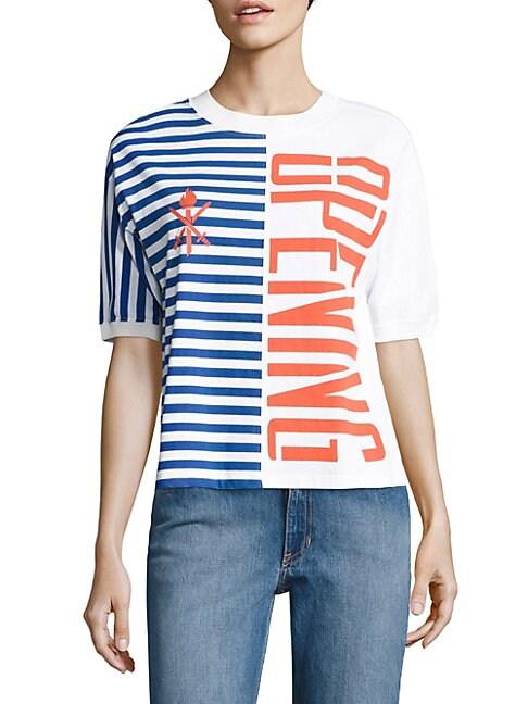 Striped Cotton Logo Tee