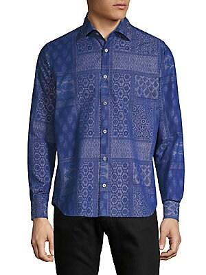 Embroidered Chambray Shirt