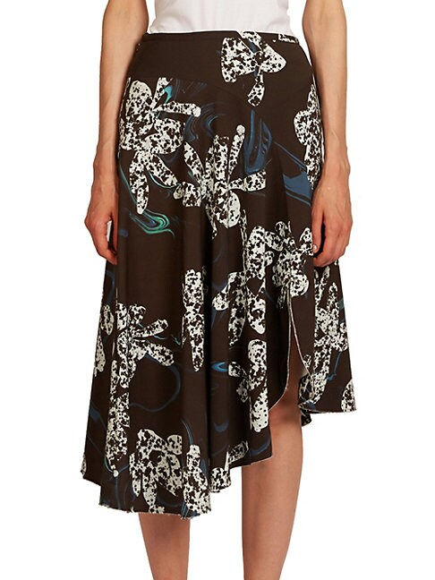 C DRIC CHARLIER | Asymmetric Orchid Skirt | Goxip