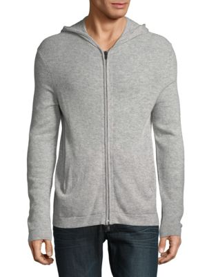 Theory Cashmeres Full-Zip Cashmere Hoodie