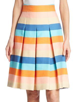 Akris  Striped Cotton Blend Skirt