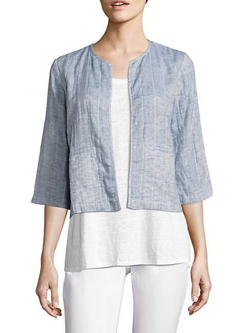 Quilted Organic Cotton & Organic Linen Jacket