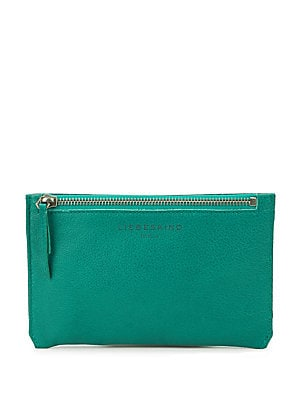 Colorblock Leather Pouch