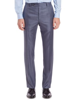 Saks Fifth Avenue  COLLECTION BY SAMUELSOHN CLASSIC-FIT WOOL & SILK DRESS PANTS
