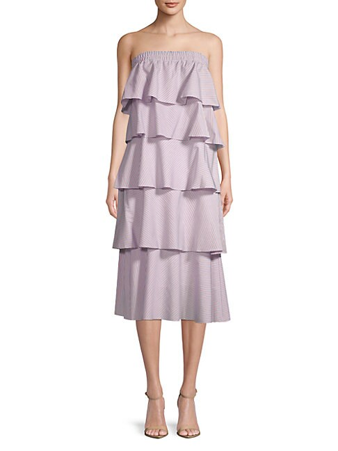 Prose & Poetry ELLIE COTTON TIERED STRAPLESS DRESS