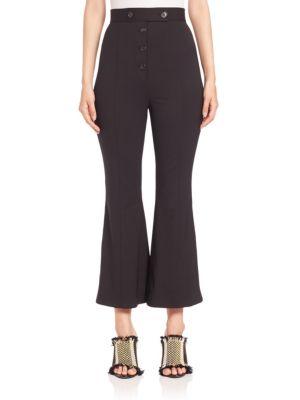 Proenza Schouler Cottons Flared Wool Pants
