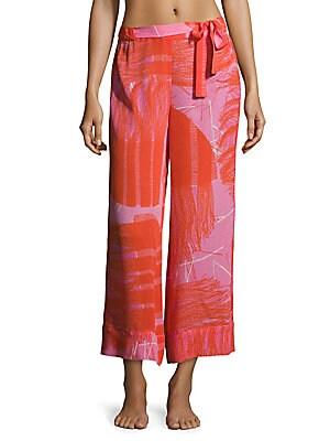 Manila Bay Patterned Silk Pants
