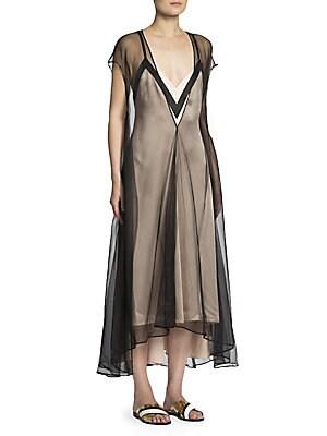Tulle Overlay Slip Dress