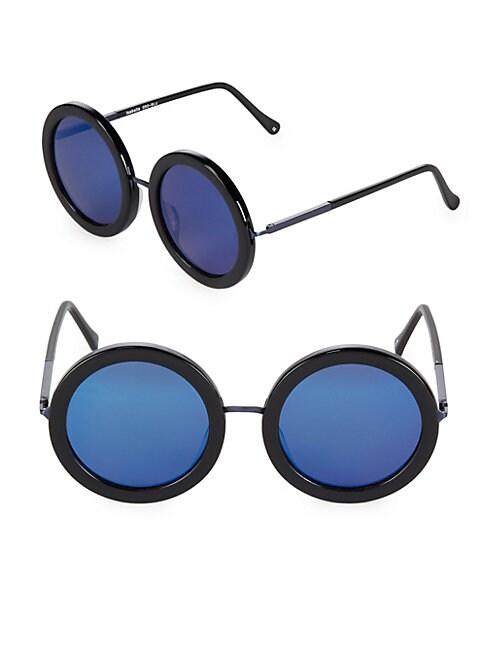 53MM Isabella Tinted Round Sunglasses