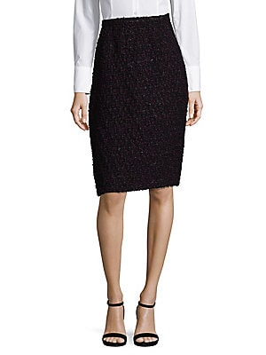 Multi-Tweed Pencil Skirt