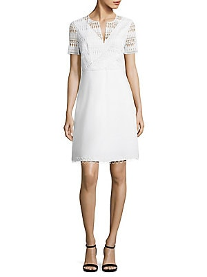 Kinley Crochet & Poplin Dress
