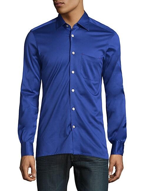 ABLA   Vibrant Cotton Button-Down Shirt   Goxip