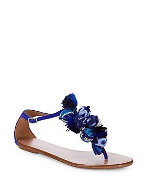 Tropicana Suede Tassel Sandals