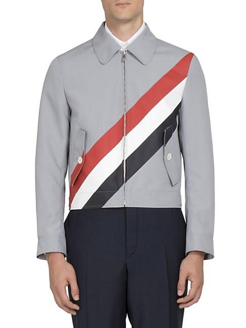 Striped Zip-Front Jacket