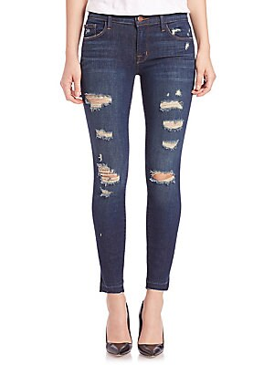 Ripped Cropped Skinny Jeans