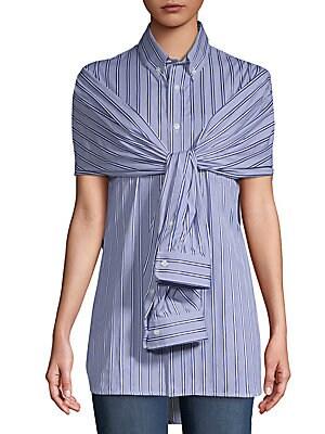 Cotton Poplin Stripe Top