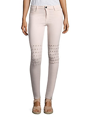 Emma Rush Embroidered Skinny Jeans