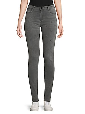 Patterend Hardware Skinny Jeans