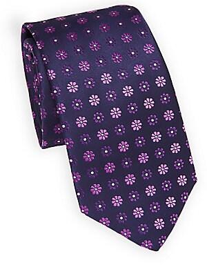 Daisy Printed Silk Tie