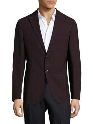 Pal Zileri BERRY WOOL & LINEN CHECK SPORTCOAT