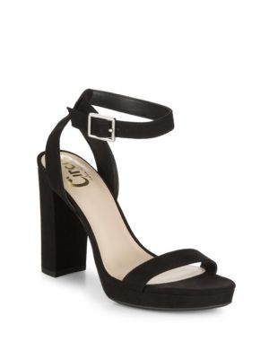 CIRCUS BY SAM EDELMAN Annettee Faux Suede Sandals in Black
