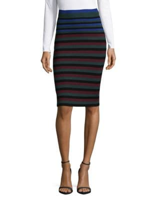 Ronny Kobo Skirts Stripe Pencil Skirt