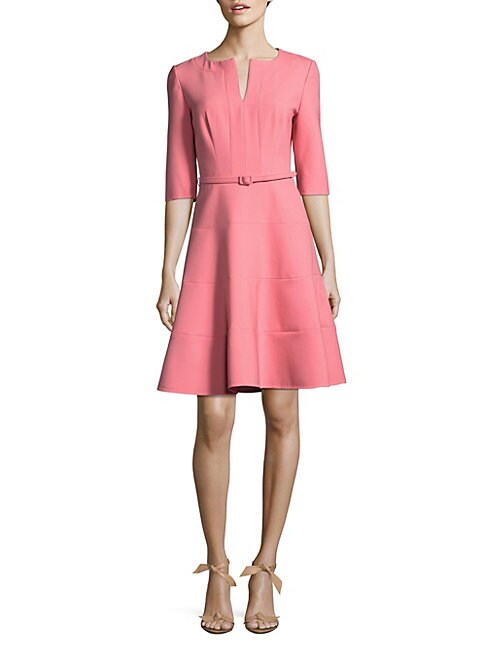 Three-Quarter Sleeve A-Line Dress