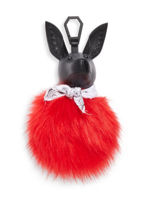 Kendall + Kylie Bambi Faux Fur Dog Bag Charm