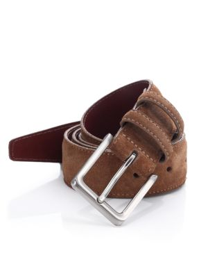 Saks Fifth Avenue COLLECTION Suede & Leather Belt