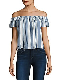 281860e0fc8ab Striped Off-The-Shoulder Top BLUE SKIES. QUICK VIEW. Product image