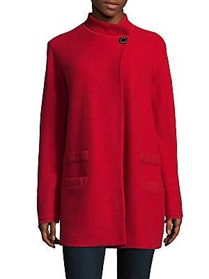 Single-Button Boucle Coat