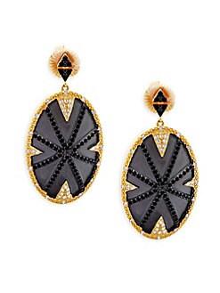 FREIDA ROTHMAN - Pavé Dome Drop Earrings