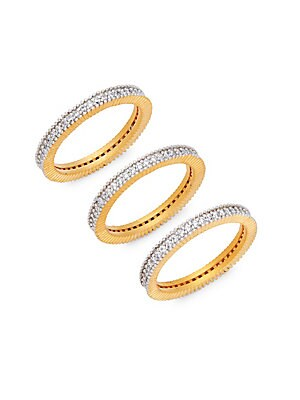 Pavé Crystal Mixed Triple Stackable Ring