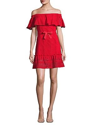 Elkwood Off-the-Shoulder Cotton Dress