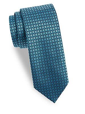 Small Square Pattern Silk Tie