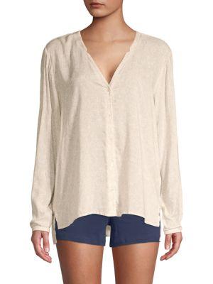 Hanro Lara Striped Pajama Shirt