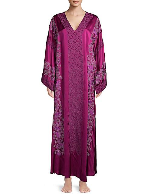 Floral Silk Caftan