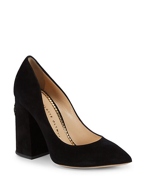 CHARLOTTE OLYMPIA | Point Toe Leather Pumps | Goxip