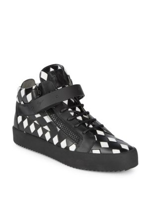 Giuseppe Zanotti  Checkered Leather Sneakers