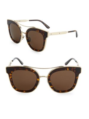 deb0066ec3 Bottega Veneta 52Mm Tortoiseshell Cat-Eye Sunglasses In Dark Havana
