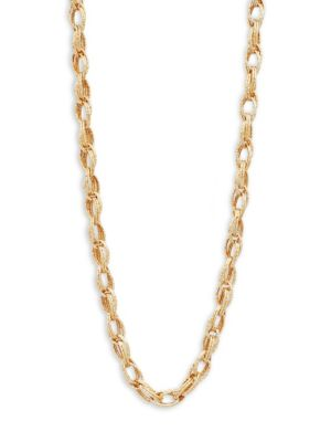 Saks Fifth Avenue  Made In Italy 14K Yellow Gold Double Link Necklace