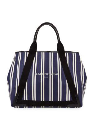 Balenciaga  Stripe Extendable Shopper Bag