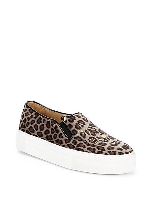 CHARLOTTE OLYMPIA | Leopard-Print Platform Sneakers | Goxip