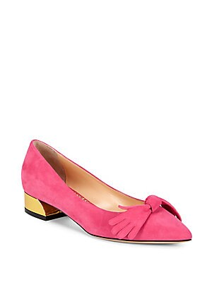 Bow Suede Flats