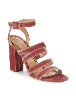 Charlotte Olympia Block Heel Ankle Strap Sandals