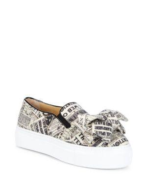 Charlotte Olympia  Gazette Alex Graphic Platform Sneakers