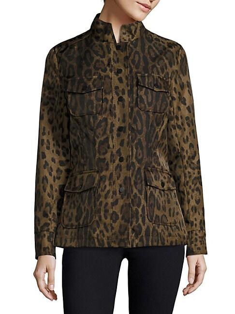 Leopard-Print Safari Jacke