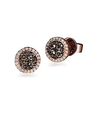 Le Vian Chocolatier Diamond & 14K Rose Gold Earrings