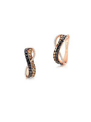 Le Vian Exotics Diamond & 14K Rose Gold Infinity Earrings