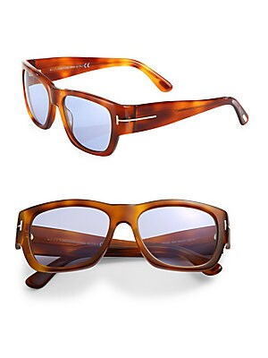 STEPHEN 54MM SOFT SQUARE SUNGLASSES